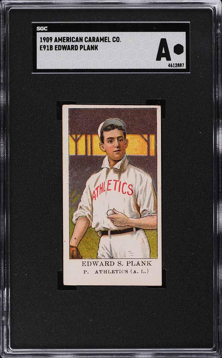 1909 E91-B American Caramel Eddie Plank SGC Auth - Image 1