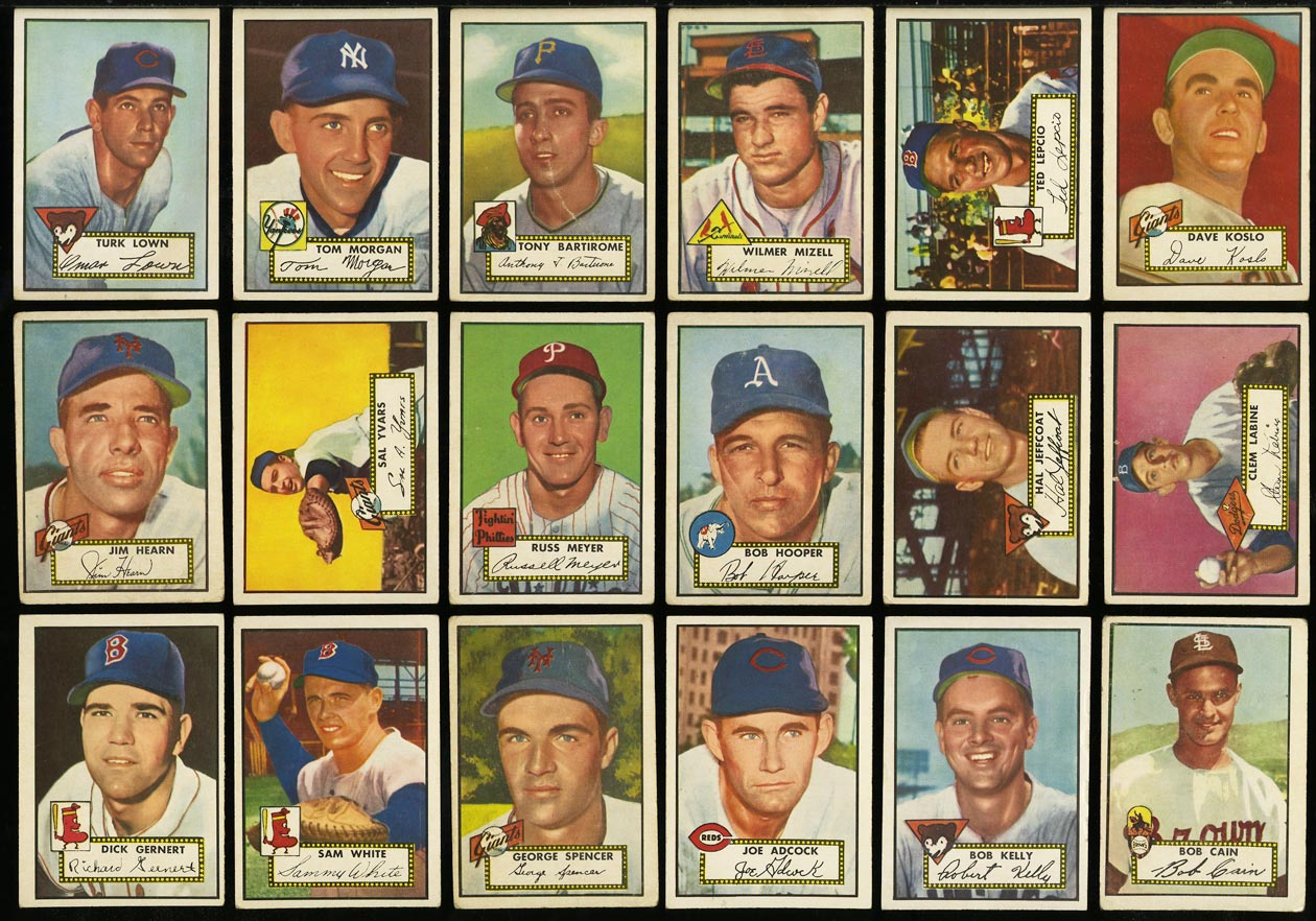 1952 Topps Lo-Mid Grd COMPLETE SET Mays Mathews Berra Robinson Mantle PSA (PWCC) - Image 13