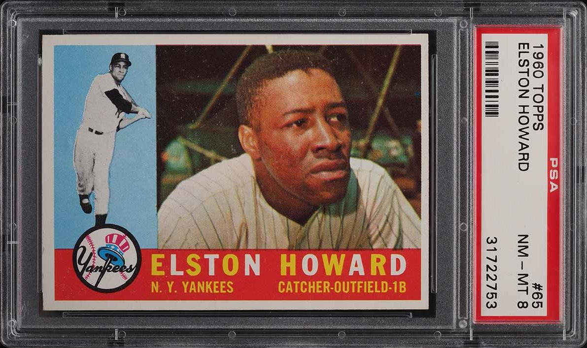1960 Topps Elston Howard #65 PSA 8 NM-MT - Image 1