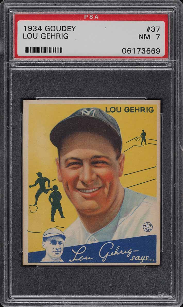 1934 Goudey Lou Gehrig #37 PSA 7 NRMT (PWCC) - Image 1