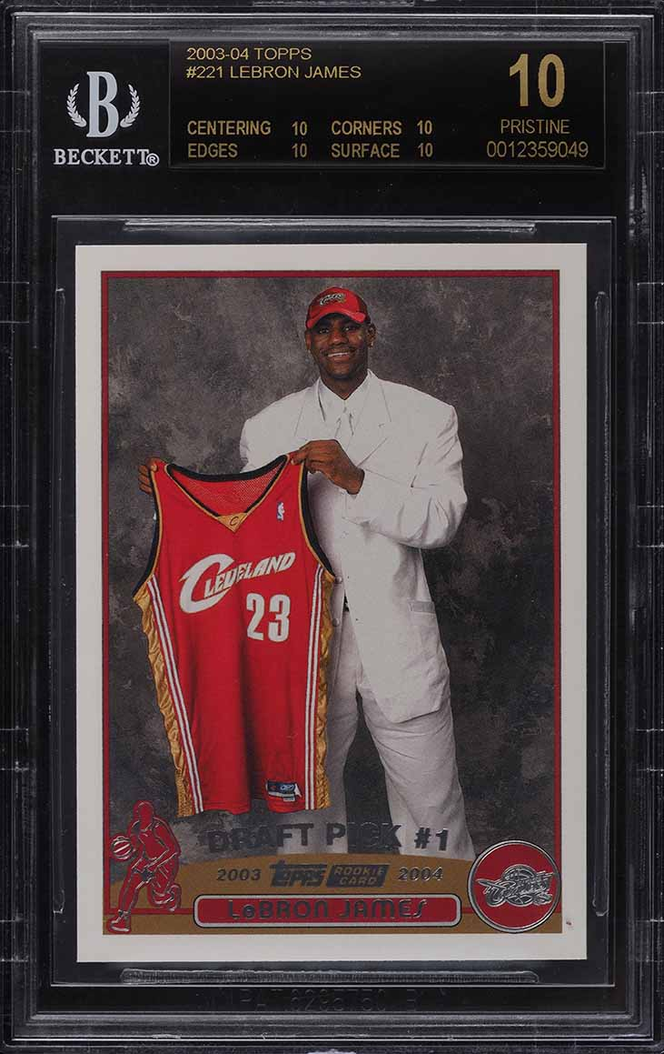 2003 Topps Basketball LeBron James ROOKIE RC #221 BGS 10 BLACK LABEL - Image 1