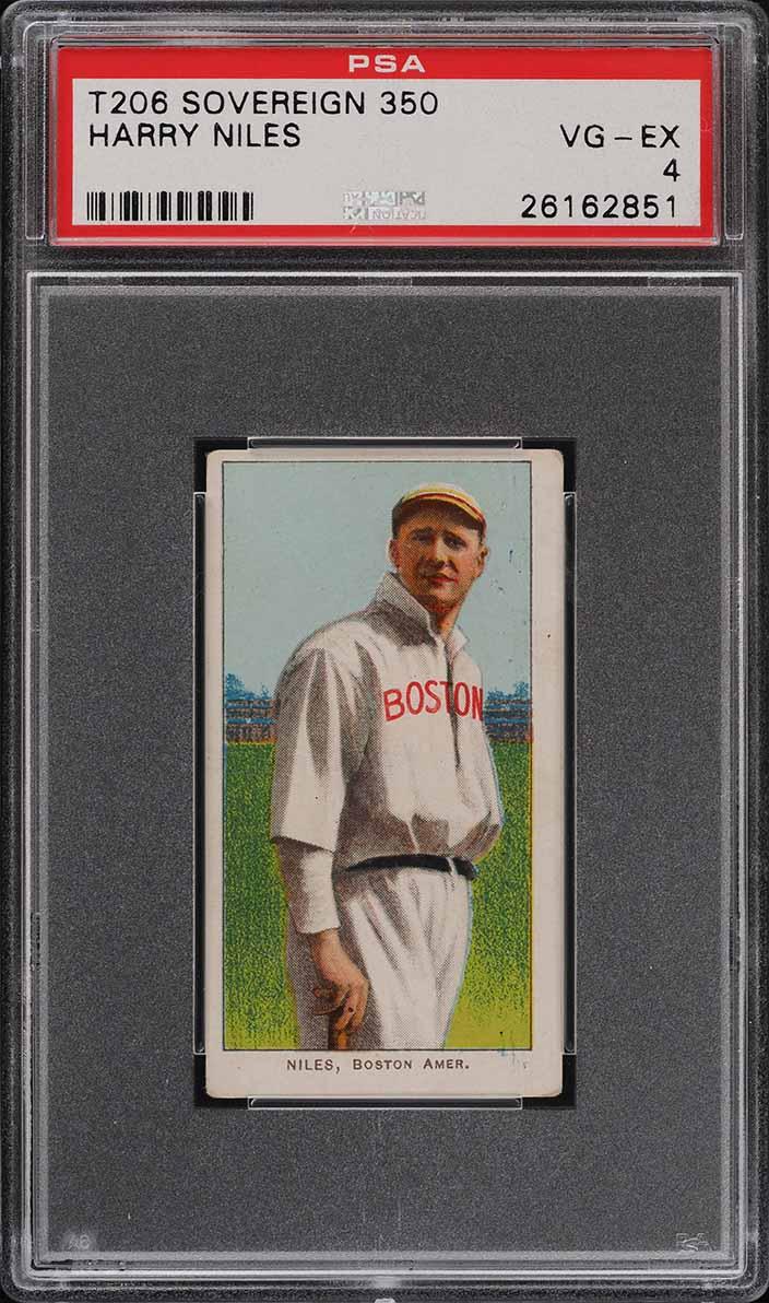 1909-11 T206 SETBREAK Harry Niles SOVEREIGN PSA 4 VGEX (PWCC) - Image 1