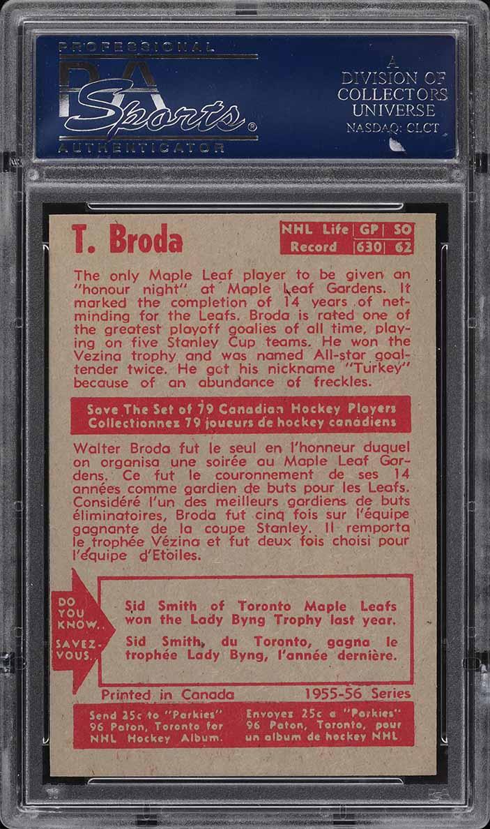 1955 Parkhurst Turk Broda #23 PSA 7 NRMT - Image 2