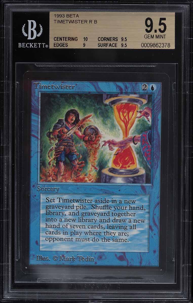 1993 Magic The Gathering MTG Beta Timetwister R B BGS 9.5 GEM MINT - Image 1