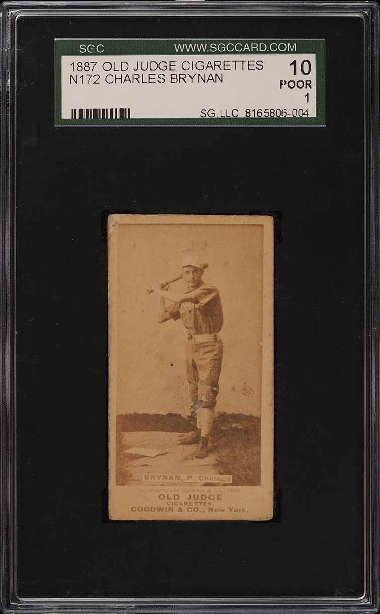 1887 N172 Old Judge Charles Brynan BAT AT READY SGC 1 PR (PWCC) - Image 1