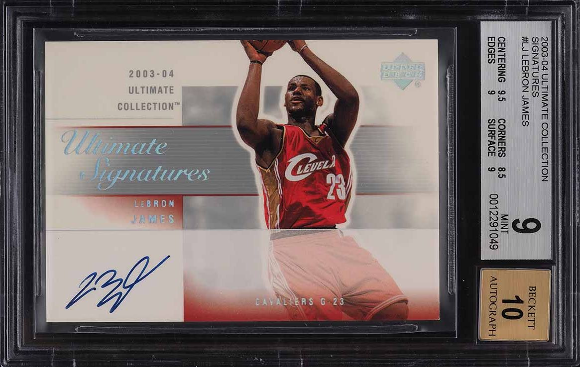 2003 Ultimate Collection Signatures LeBron James ROOKIE RC AUTO BGS 9 MINT - Image 1
