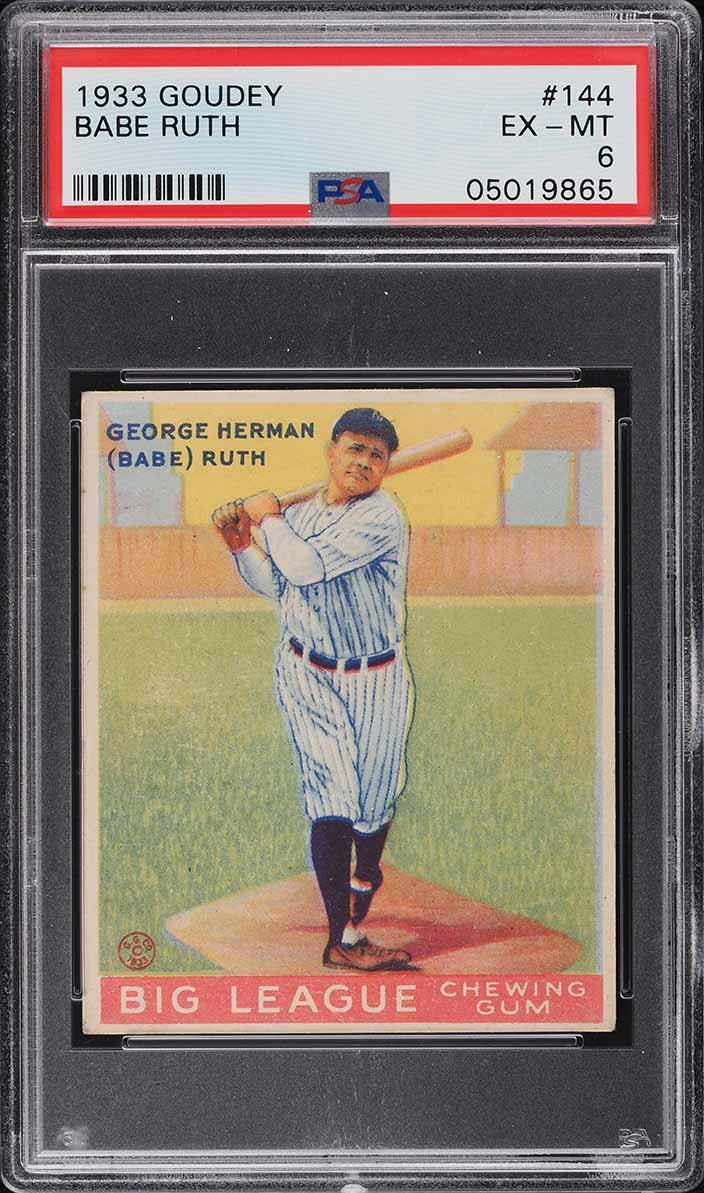 1933 Goudey Babe Ruth #144 PSA 6 EXMT - Image 1