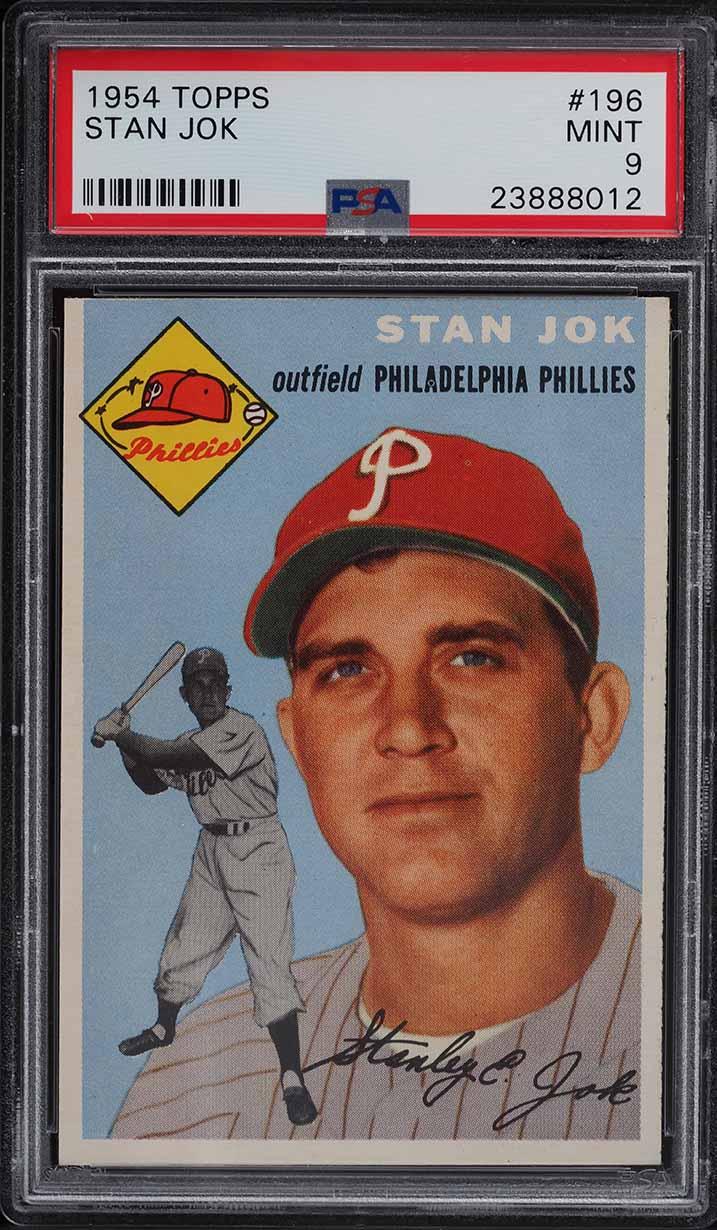 1954 Topps Stan Jok #196 PSA 9 MINT - Image 1