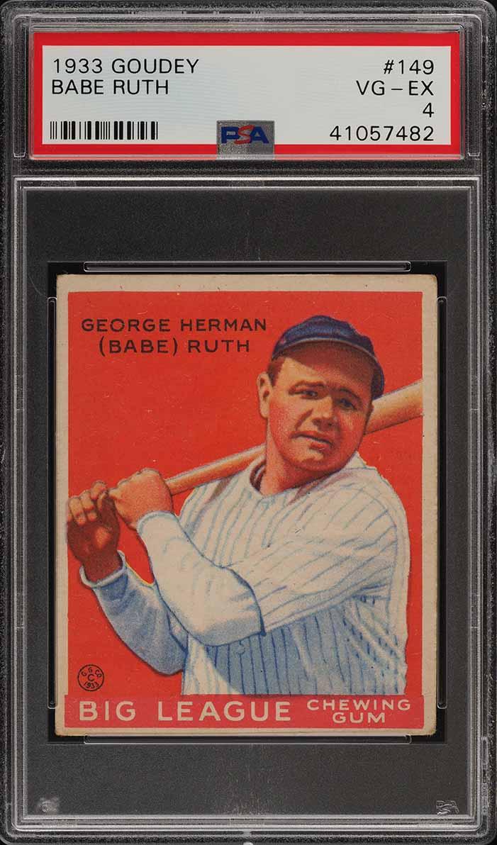 1933 Goudey Babe Ruth #149 PSA 4 VGEX (PWCC) - Image 1