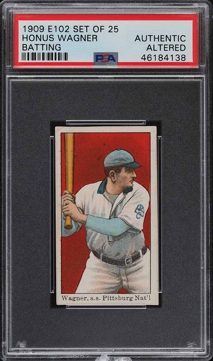 1909 E102 Set Of 25 Honus Wagner BATTING PSA Altered - Image 1