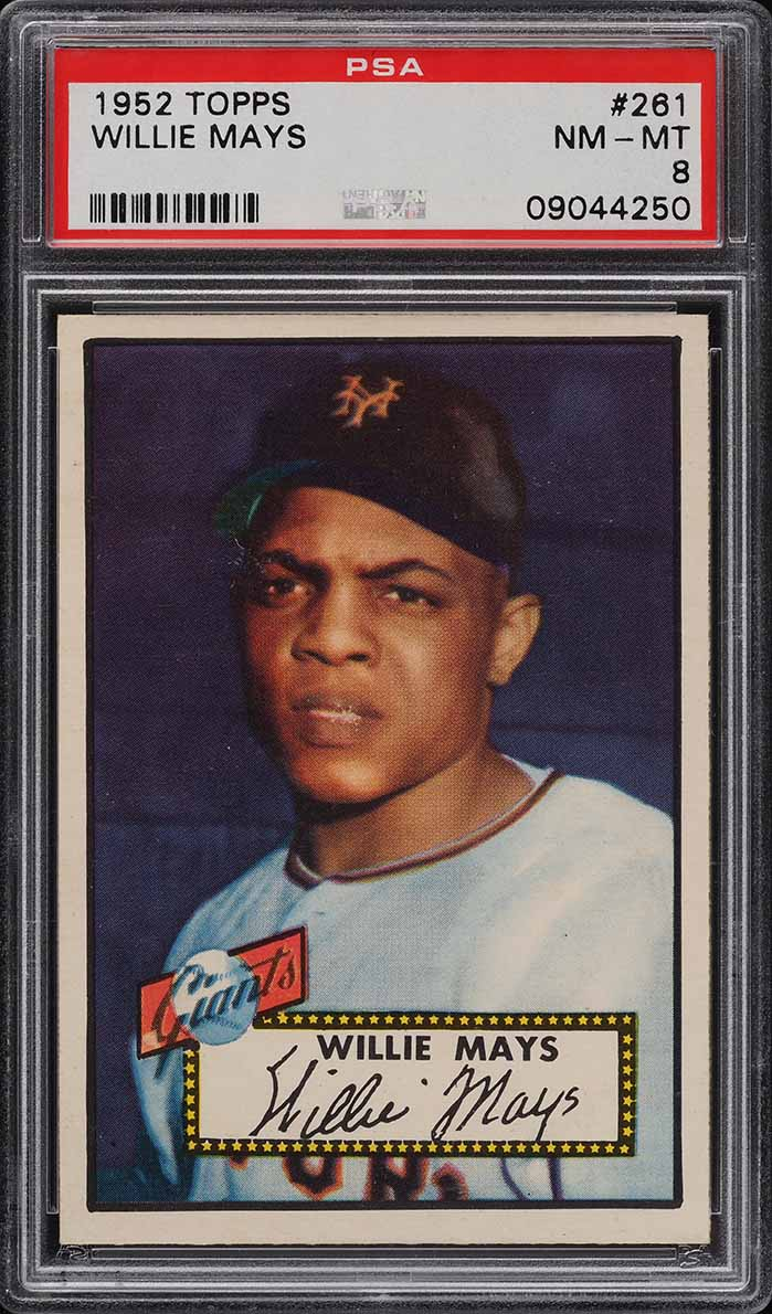 1952 Topps Willie Mays #261 PSA 8 NM-MT - Image 1