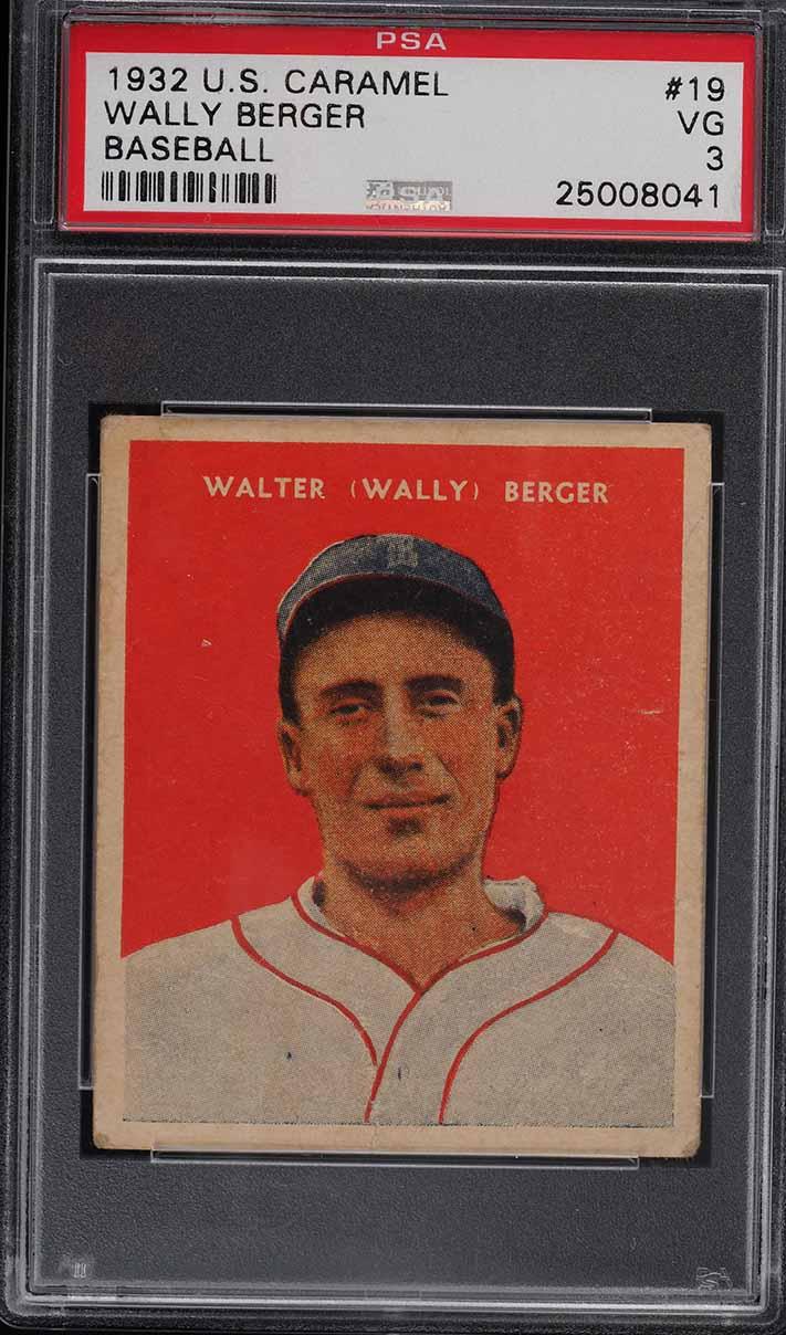 1932 U.S. Caramel Wally Berger #19 PSA 3 VG - Image 1