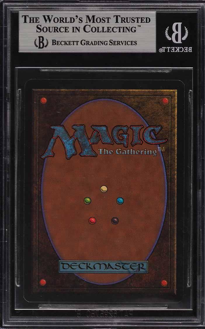 1993 Magic The Gathering MTG Beta Dual Land Volcanic Island R L BGS 9 MT (PWCC) - Image 2