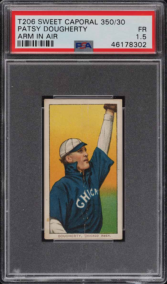 1909-11 T206 Patsy Dougherty ARM IN AIR PSA 1.5 PR - Image 1