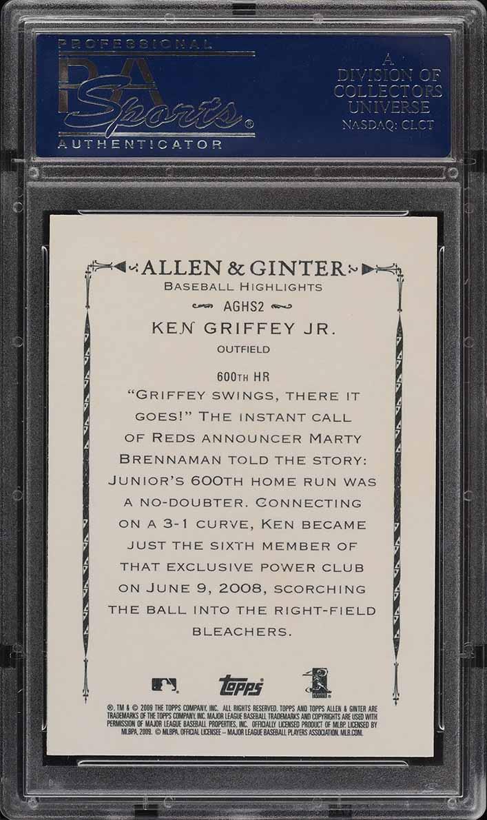 2009 Topps Allen & Ginter Highlight Sketches Ken Griffey Jr. #2 PSA 10 GEM MINT - Image 2