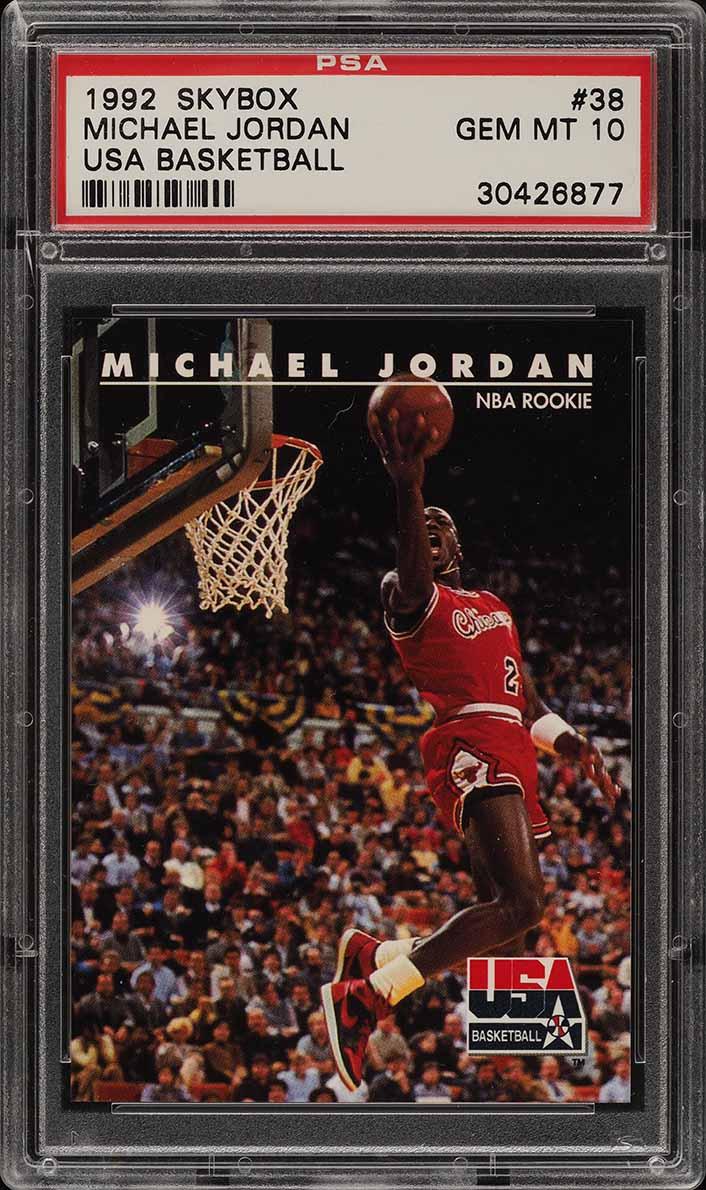 1992 Skybox USA Michael Jordan #38 PSA 10 GEM MINT (PWCC) - Image 1