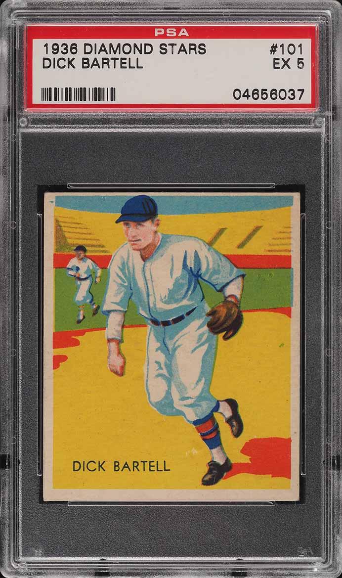 1935 Diamond Stars Dick Bartell #101 PSA 5 EX - Image 1