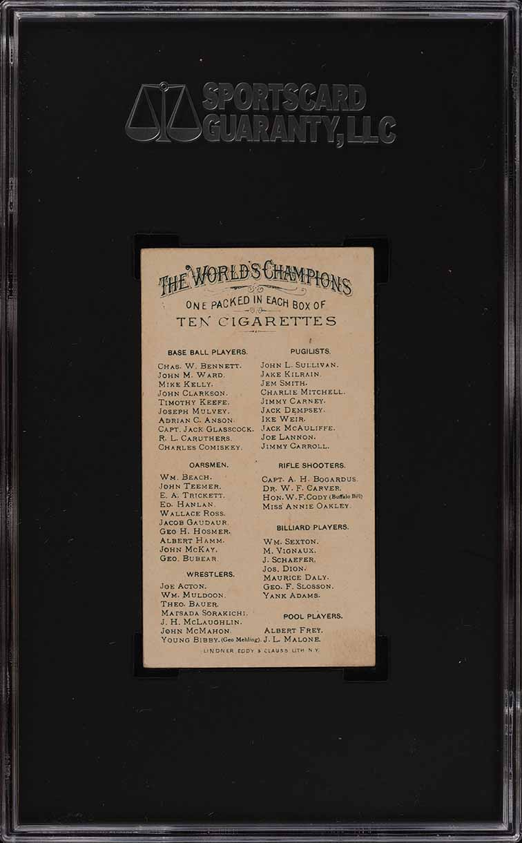 1887 N28 Allen & Ginter Adrian Cap Anson SGC 7 NRMT (PWCC) - Image 2