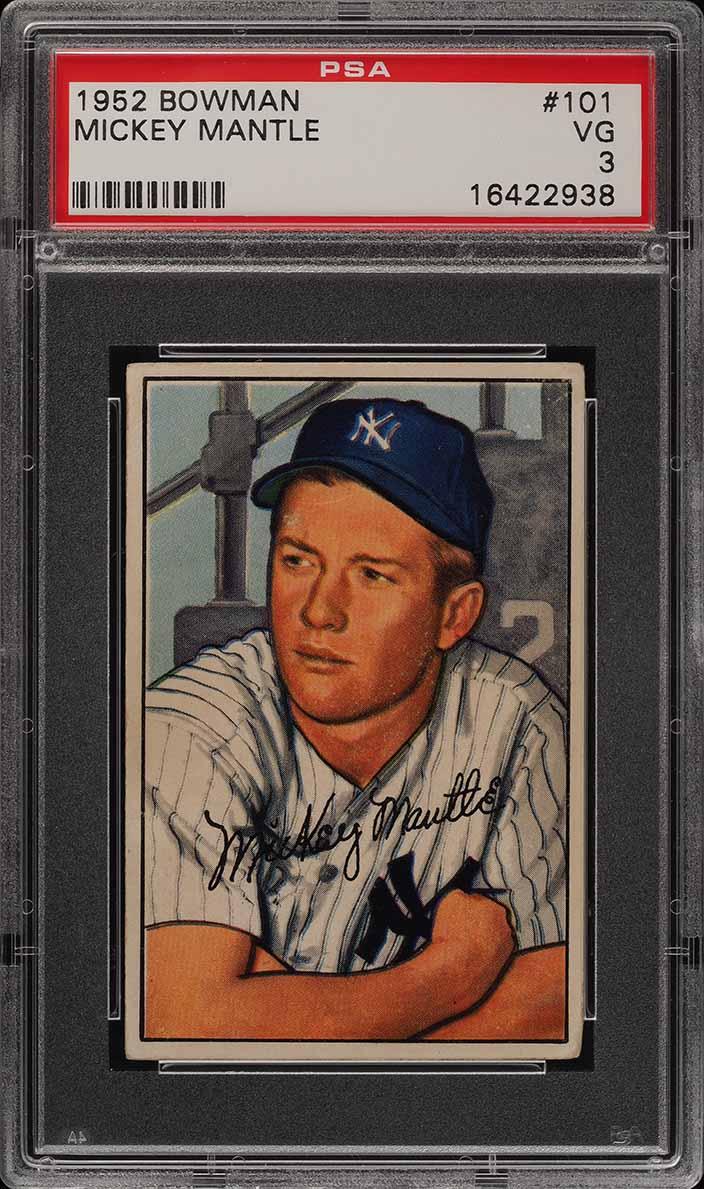 1952 Bowman Mickey Mantle #101 PSA 3 VG (PWCC) - Image 1