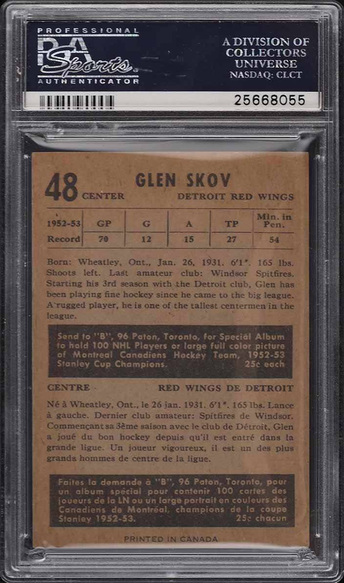 1953 Parkhurst Glen Skov #48 PSA 7 NRMT - Image 2