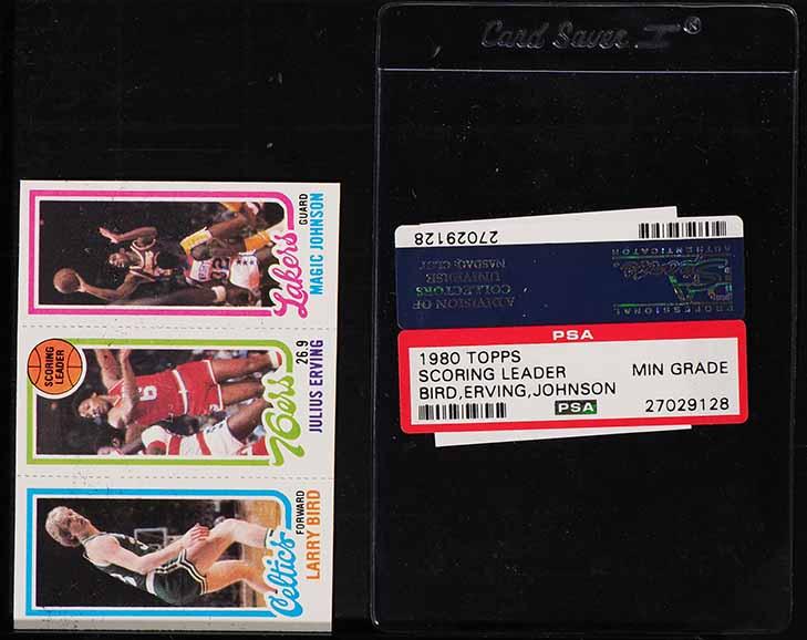 1980 Topps Basketball Larry Bird Magic Johnson Rookie Rc