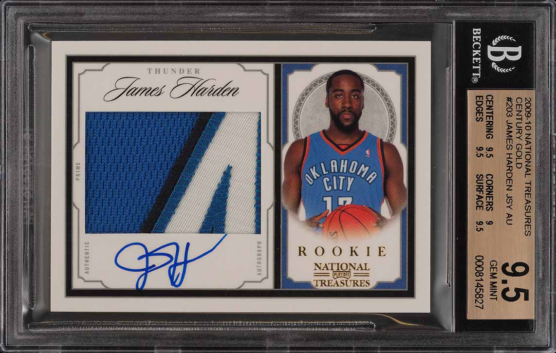 2009 National Treasures Century Gold James Harden RC AUTO PATCH /25 BGS 9.5 PWCC - Image 1