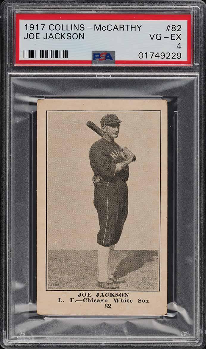 1917 E135 Collins-McCarthy Shoeless Joe Jackson #82 PSA 4 VGEX (PWCC-A) - Image 1