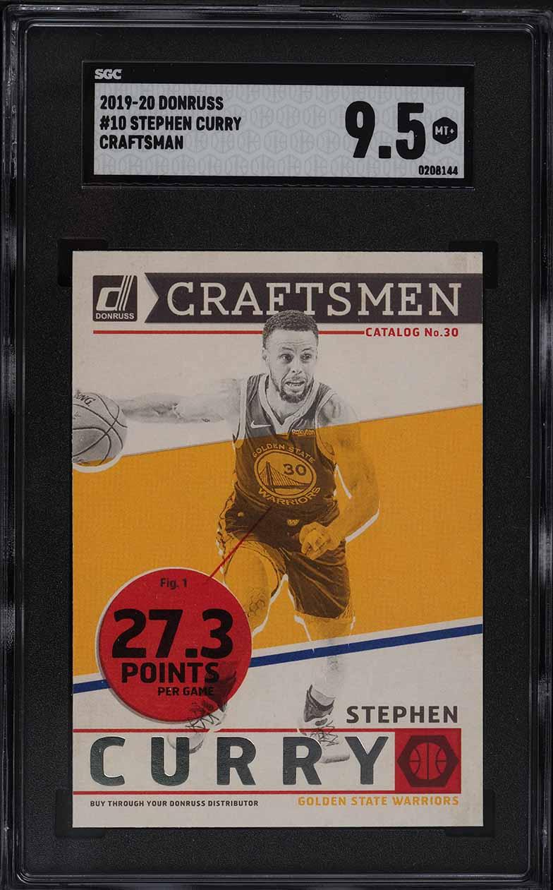 2019 Donruss Craftsman Stephen Curry #10 SGC 9.5 MINT+ - Image 1