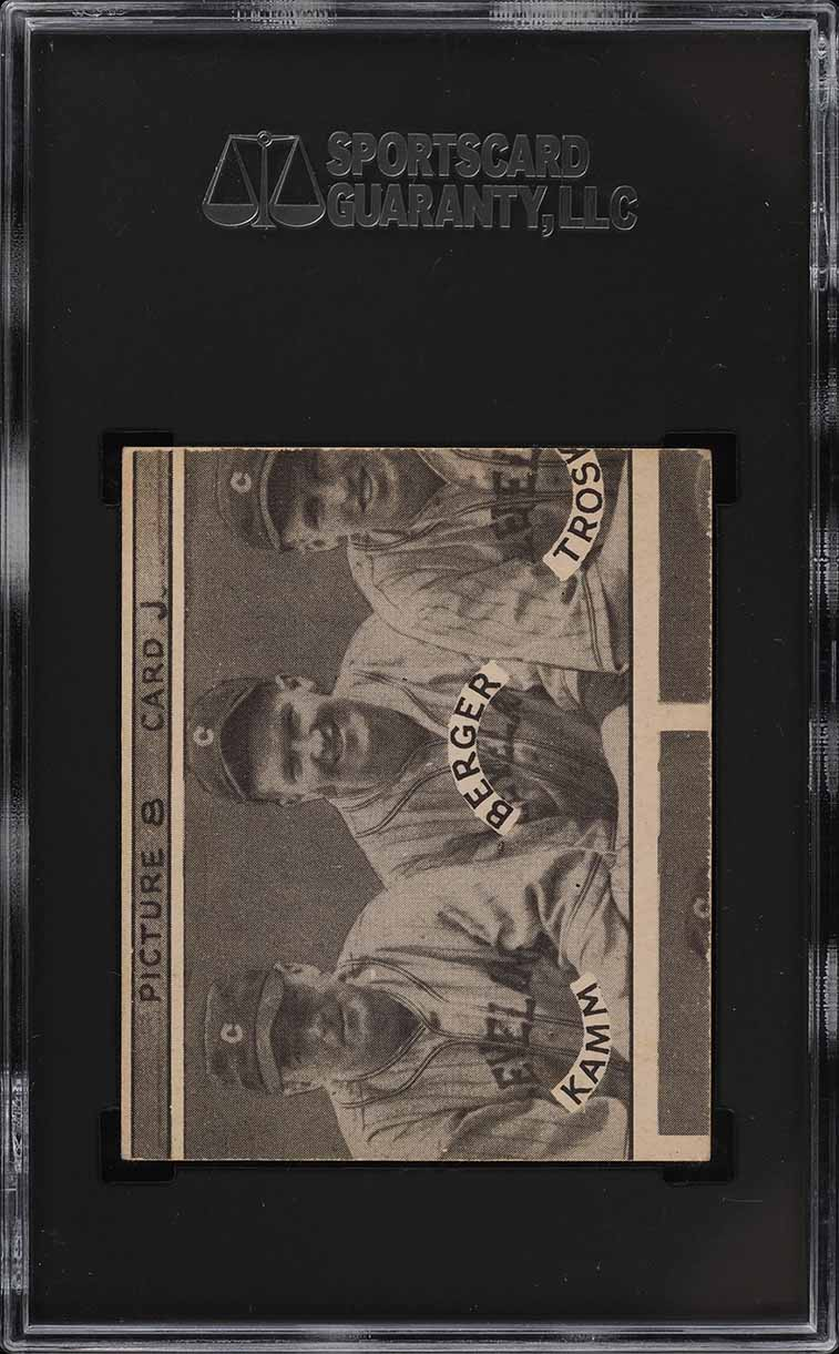 1935 Goudey 4-In-1 Johnson Coleman Marcum Cramer #8J SGC 5 EX - Image 2