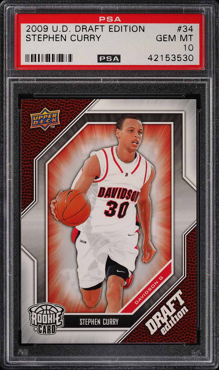 2009 Upper Deck Draft Edition Stephen Curry Rookie Rc 34