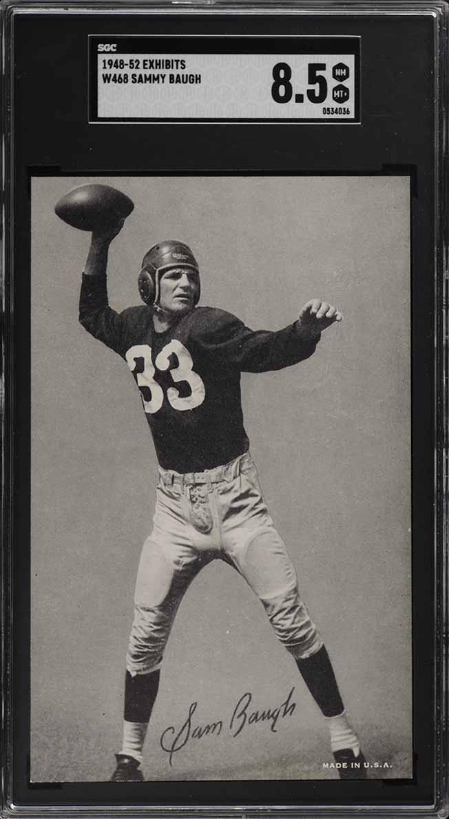 1948-52 W468 Exhibits Sammy Baugh ROOKIE RC SGC 8.5 NM-MT+ (PWCC) - Image 1