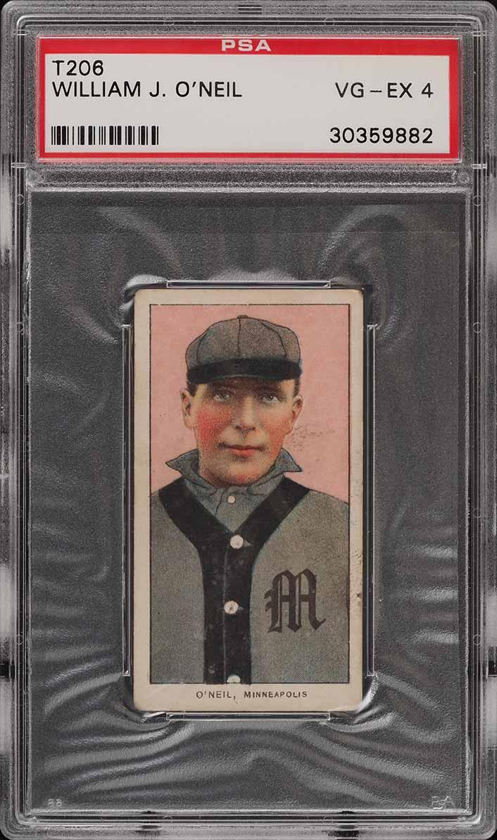 1909-11 T206 SETBREAK William O'Neil PSA 4 VGEX (PWCC) - Image 1