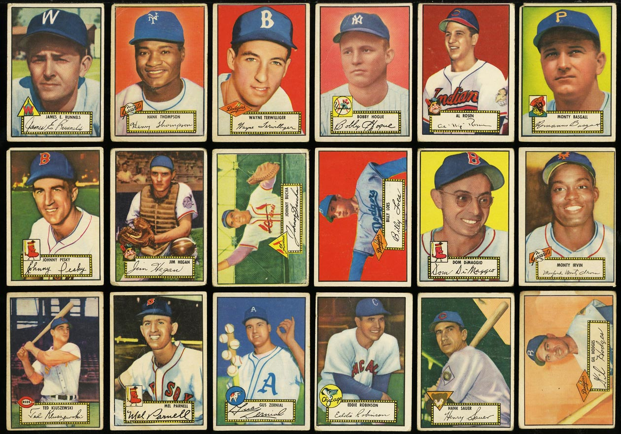 1952 Topps Lo-Mid Grd COMPLETE SET Mays Mathews Berra Robinson Mantle PSA (PWCC) - Image 7