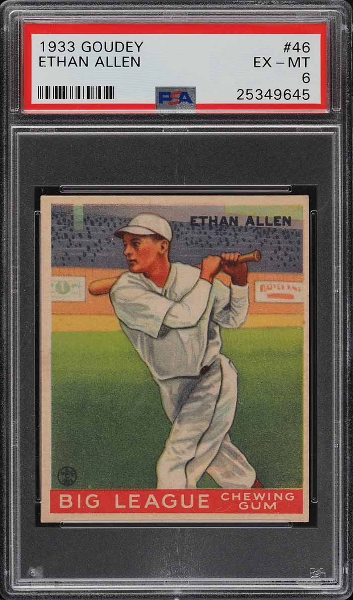 1933 Goudey Ethan Allen #46 PSA 6 EXMT (PWCC-A) - Image 1