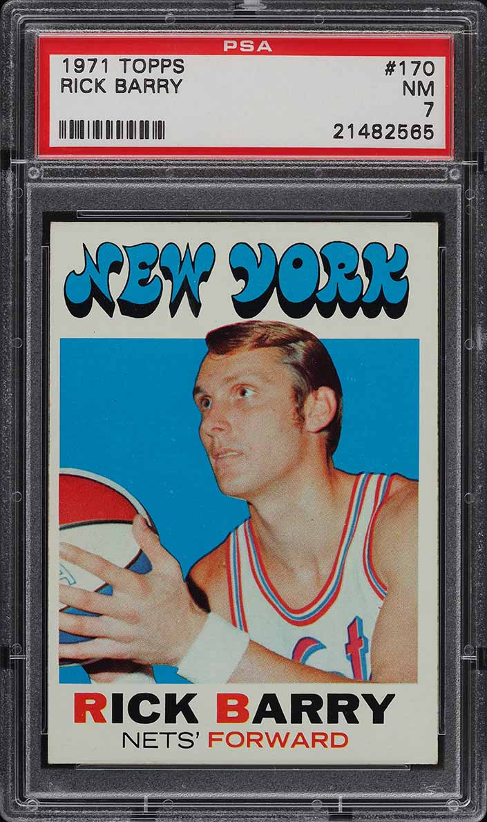 1971 Topps Basketball Rick Barry ROOKIE RC #170 PSA 7 NRMT (PWCC) - Image 1