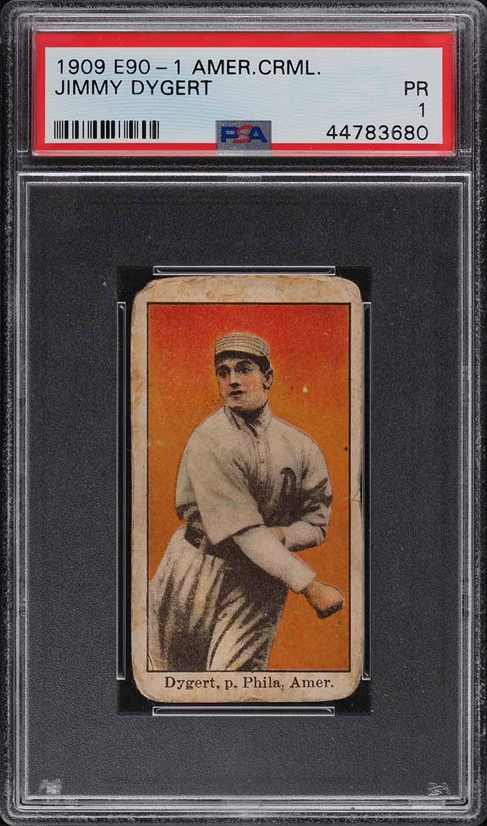 1909 E90-1 American Caramel Jimmy Dygert PSA 1 PR - Image 1