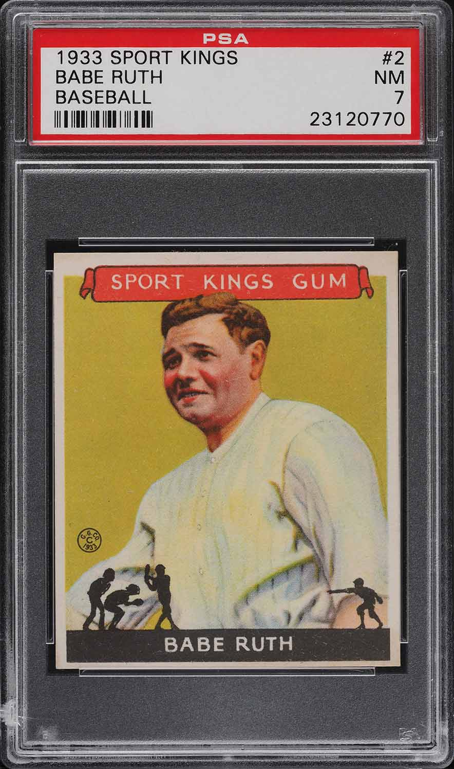 1933 Goudey Sport Kings Babe Ruth #2 PSA 7 NRMT (PWCC-A) - Image 1