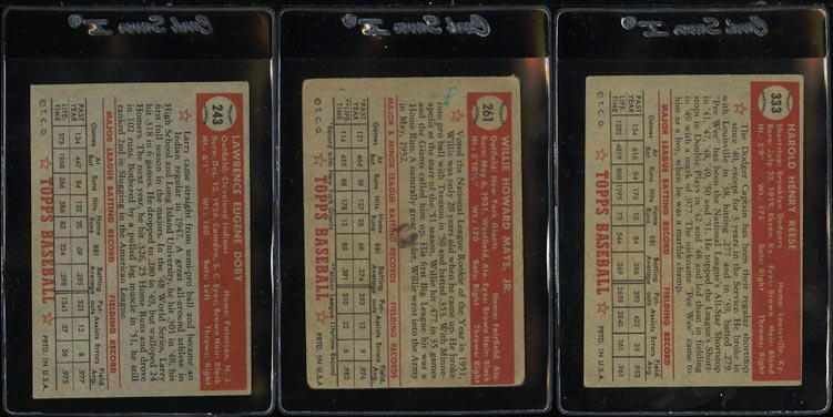 1952 Topps Lo-Mid Grd COMPLETE SET Mays Mathews Berra Robinson Mantle PSA (PWCC) - Image 6