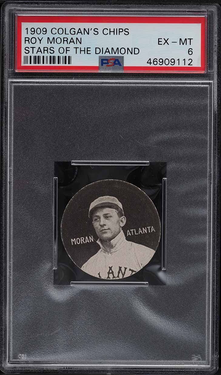 1909 Colgan's Chips Stars Of The Diamond Roy Moran PSA 6 EXMT - Image 1