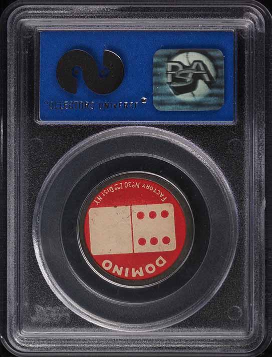 1909 Sweet Caporal Domino Discs Louis Drucke PSA 8 NM-MT - Image 2