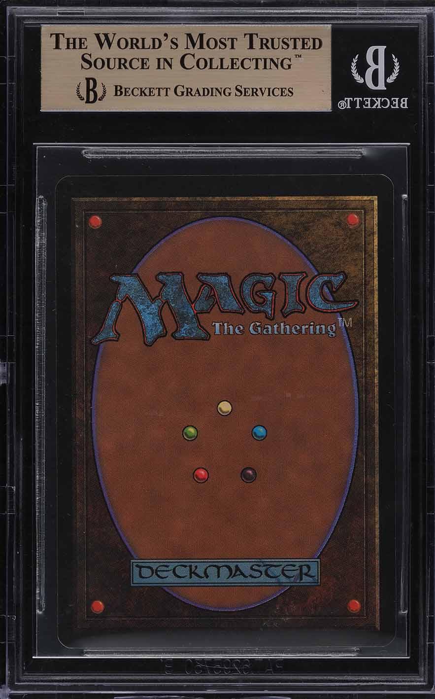 1993 Magic The Gathering MTG Beta Dual Land Underground Sea R L BGS 9.5 (PWCC) - Image 2