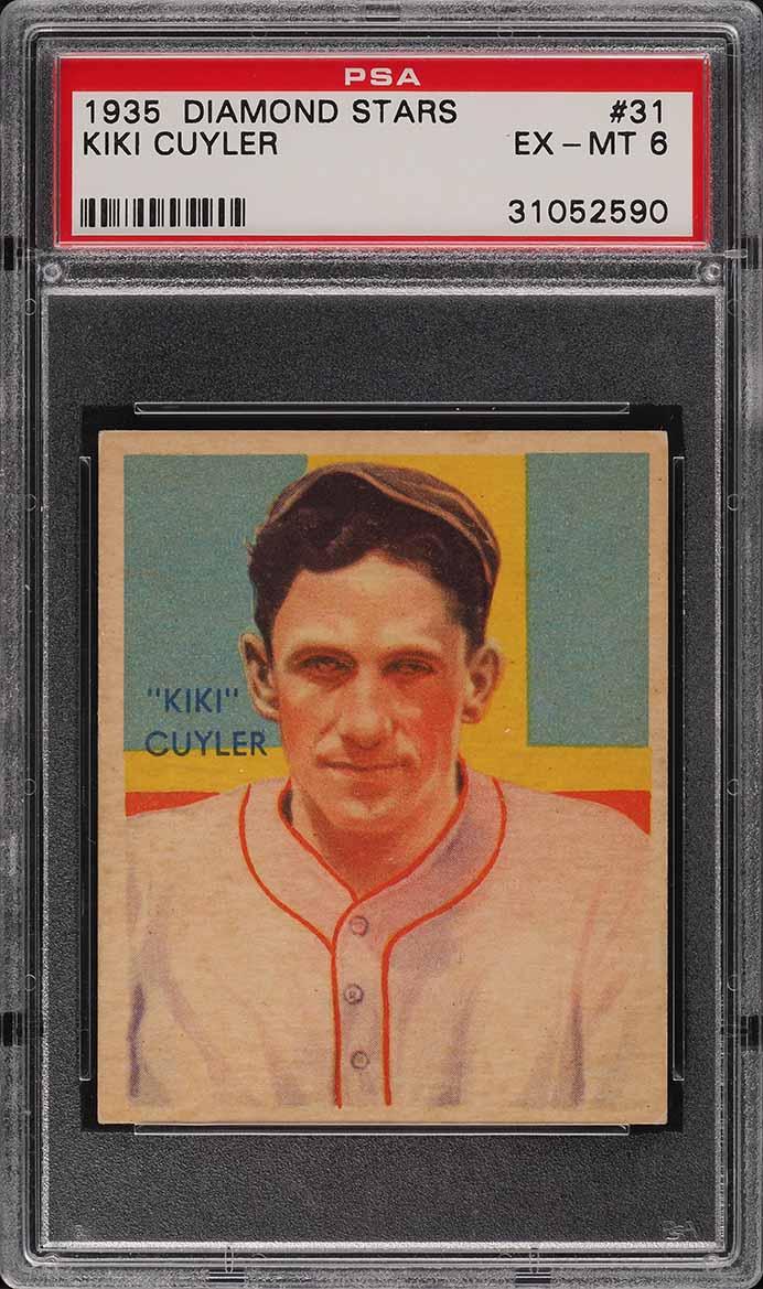 1935 Diamond Stars Kiki Cuyler #31 PSA 6 EXMT - Image 1