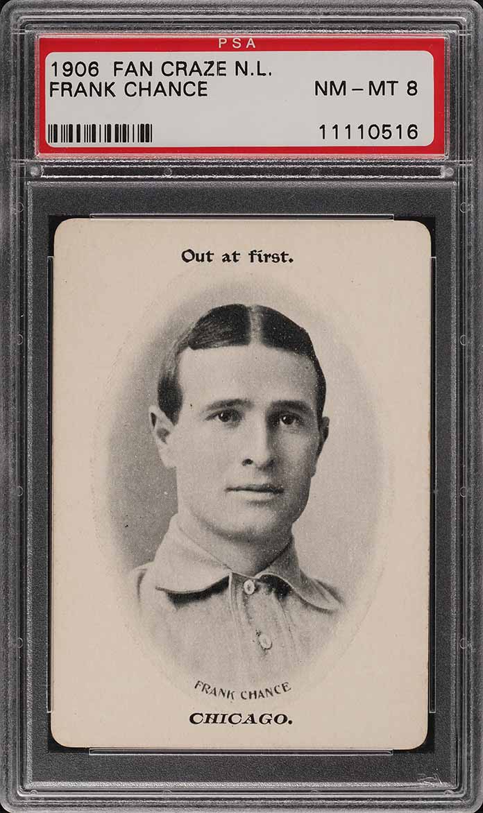 1906 Fan Craze N.L. Frank Chance PSA 8 NM-MT - Image 1