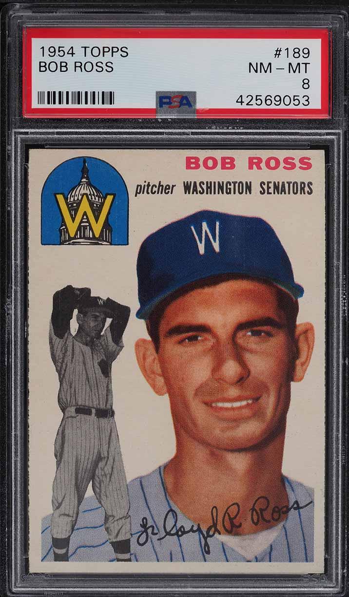 1954 Topps Bob Ross #189 PSA 8 NM-MT - Image 1