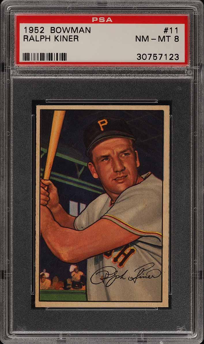 1952 Bowman SETBREAK Ralph Kiner #11 PSA 8 NM-MT (PWCC) - Image 1