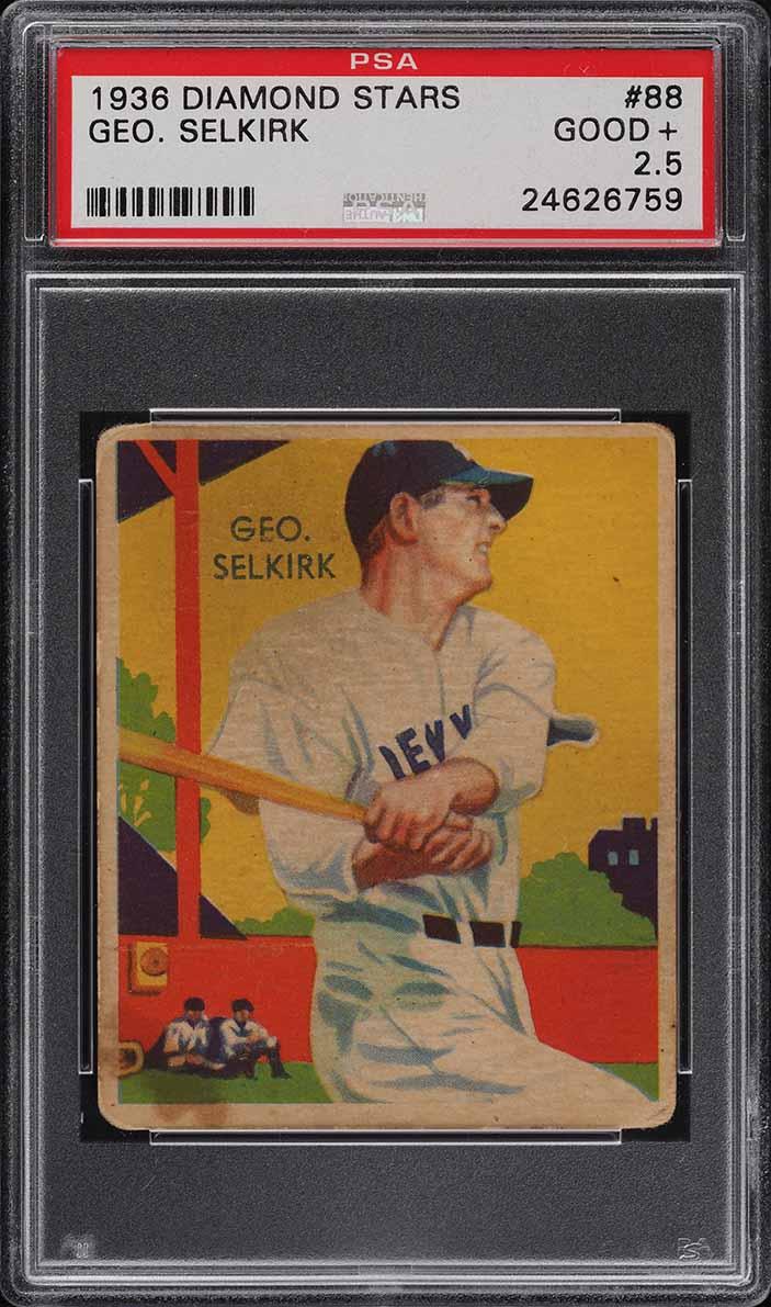 1936 Diamond Stars George Selkirk #88 PSA 2.5 GD+ - Image 1