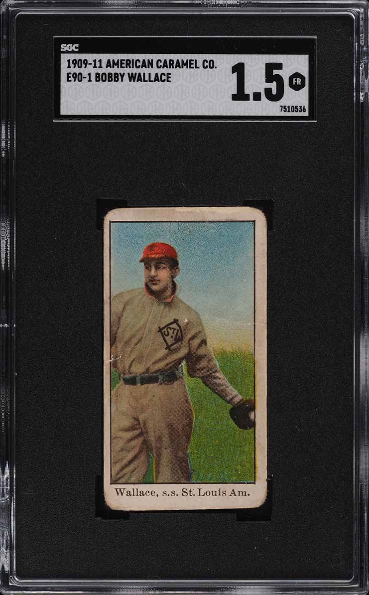 1909 E90-1 American Caramel Bobby Wallace SGC 1.5 FR - Image 1