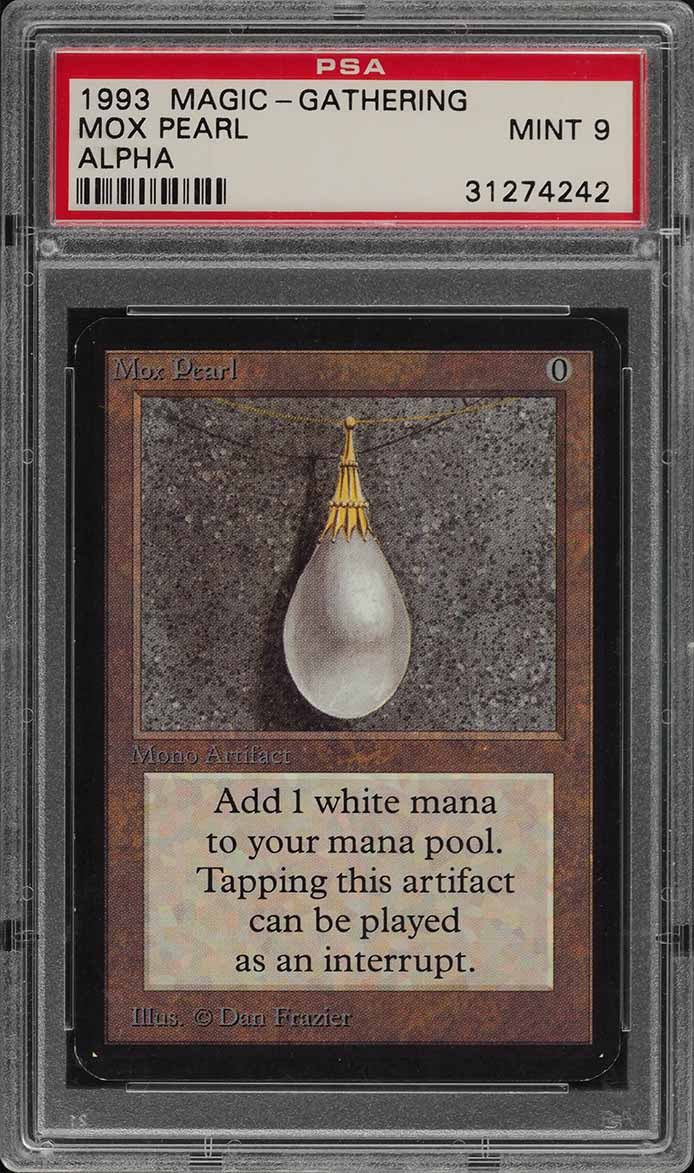 1993 Magic The Gathering MTG Alpha Mox Pearl R A PSA 9 MINT (PWCC) - Image 1