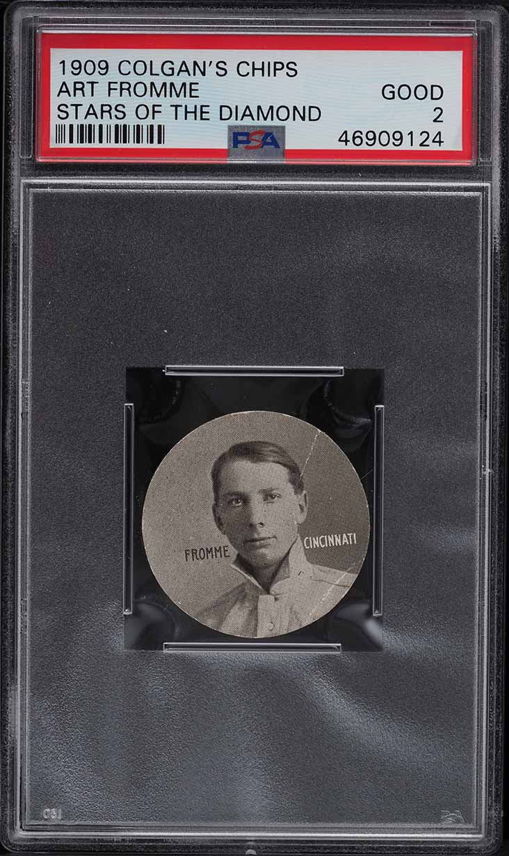 1909 Colgan's Chips Stars Of The Diamond Art Fromme PSA 2 GD - Image 1