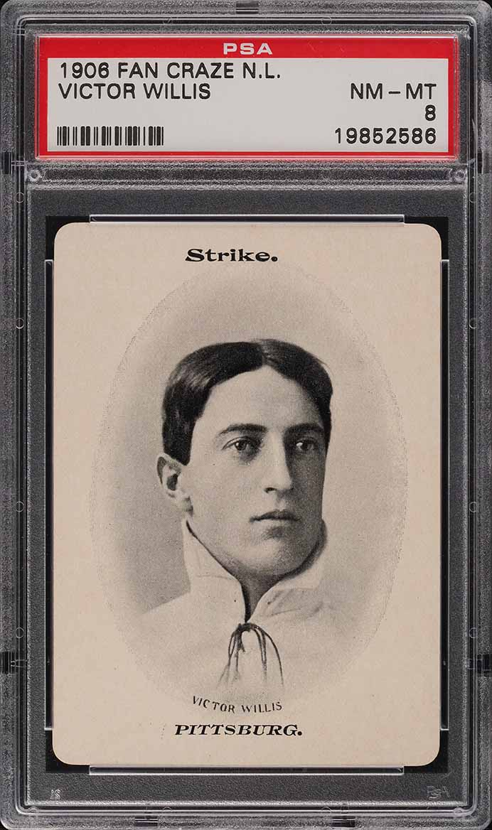 1906 Fan Craze N.L. Vic Willis PSA 8 NM-MT - Image 1